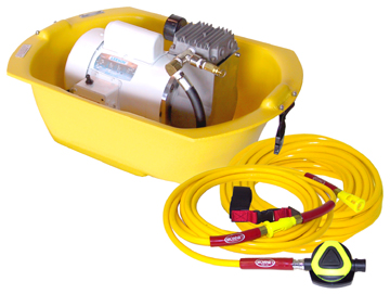 Brownie 39 s third lung e150xe electric scuba hookah system ebay - Floating dive compressor ...