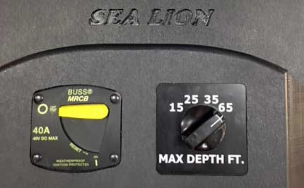 Sea Lion Max Depth Selector