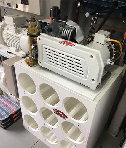 Yacht Pro 45 Compressor with Custom Tank Rack